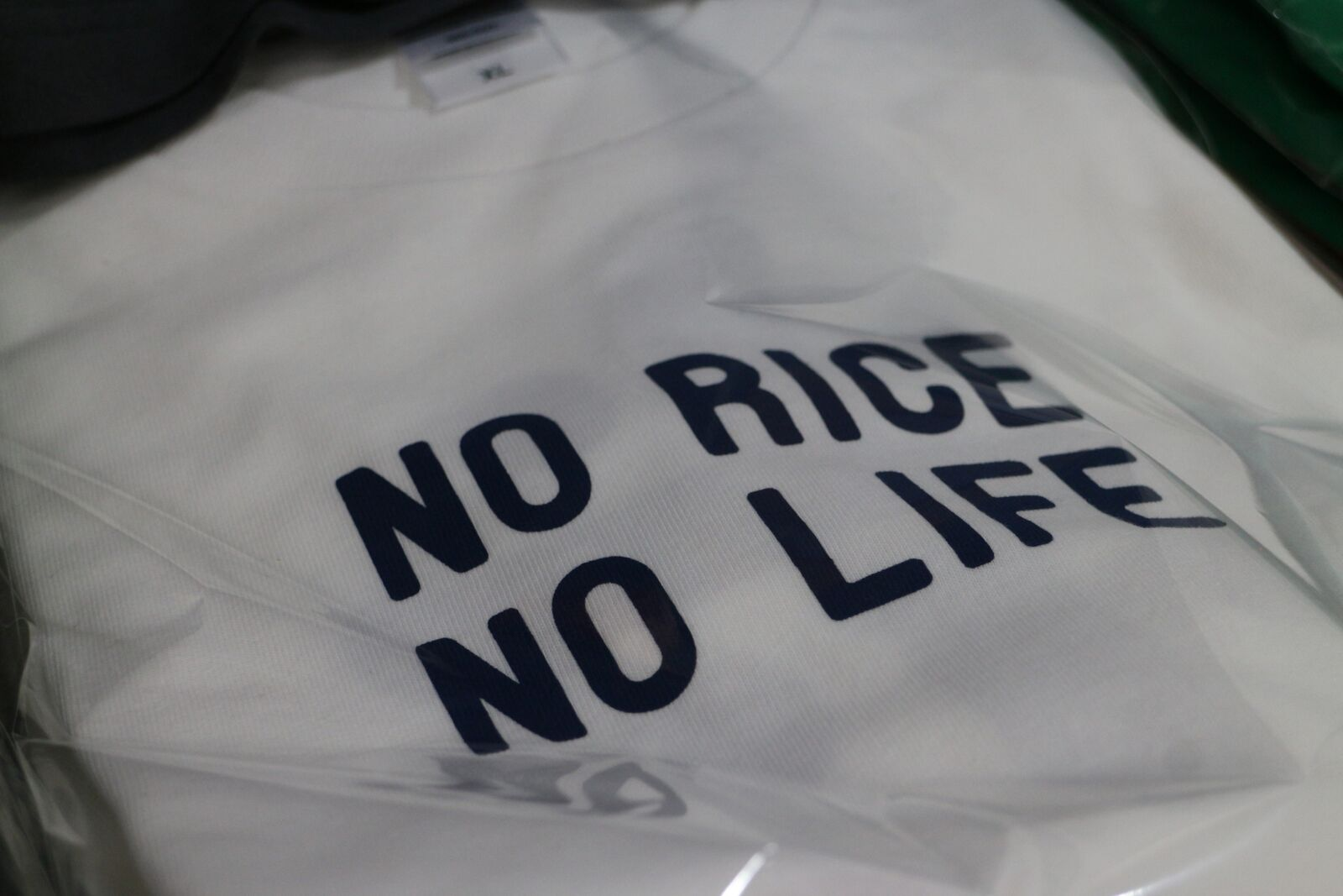 NO RICE NO LIFETシャツ